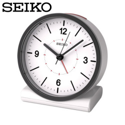 セイコー SEIKO 電波目覚まし時計 KR328W 置き時計 電波時計 アナログ 白 セイコークロックの画像