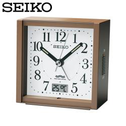 セイコー SEIKO 電波目覚まし時計 KR330B 置き時計 電波時計 アナログ 茶 SEIKO CLOCK セイコークロックの画像