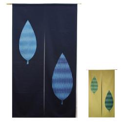 日本製抜染和柄のれん「木の葉」の画像