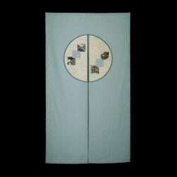 日本製和柄のれん「円角」 グリーンの画像