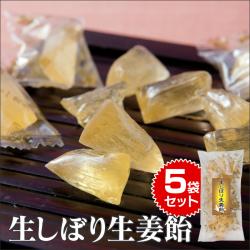 生しぼり生姜飴5袋セット 食品 菓子 飴 キャンディー 生姜 のど飴の画像