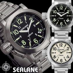 SEALANE シーレーン 10気圧防水ウォッチ メンズ腕時計 アナログ【送料無料】の画像