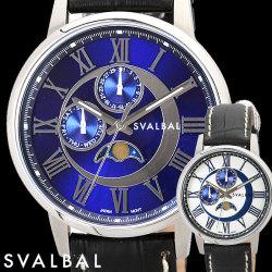 SVALBAL スバルバル 5気圧防水レザーベルトウォッチ メンズ腕時計【送料無料】の画像