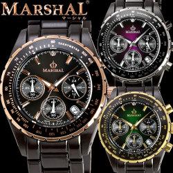 MARSHAL マーシャル 10気圧防水ブラックIPウォッチ メンズ腕時計【送料無料】【カタログ掲載1406】の画像