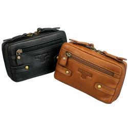 鞄 バッグ 革 メンズ ミラグロ USA製オイルドレザースマートベルトポーチ【カタログ掲載1403】の画像
