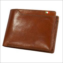 財布 メンズ 二つ折り メンズ財布イタリアンレザー ヌメ革 ミラグロ【カタログ掲載1406】の画像