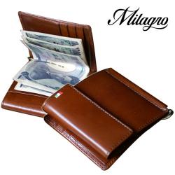 Milagro イタリアンレザー 小銭入れ付き マネークリップ CA-S-2166の画像