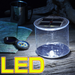 ソーラー充電式 LEDエアーランタンの画像
