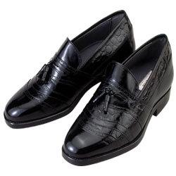 背が高くなる靴 カンガルー革タッセルスリッポン【No701】5cmUP【送料無料】の画像