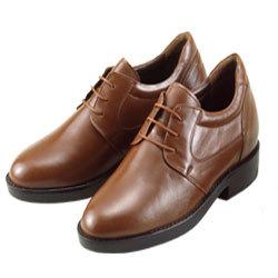 背が高くなる靴 カンガルー革プレーンひも式(ブラウン)7cmUP No271【送料無料】の画像