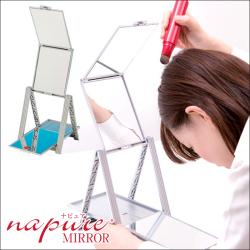 【卓上三面鏡】【立体三面鏡】ヘアチェックナピュアミラーの画像