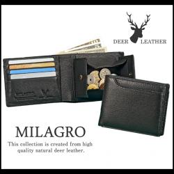 Milagroディアレザー 21ポケット二つ折り財布 HK-D-501【送料無料】の画像