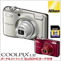 ニコン クールピクス L32 NIKON COOLPIX【送料無料】の画像