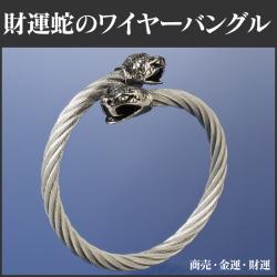 財運蛇のワイヤーバングル BL-1459の画像