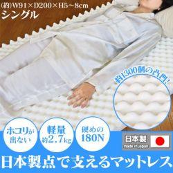 【メーカー直送・代引不可】日本製点で支える快適マット シングルの画像