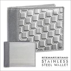スチュワートスタンドステンレススチール製2つ折りウォレット BFの画像