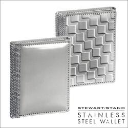 スチュワートスタンドステンレススチール製3つ折り財布 TFの画像