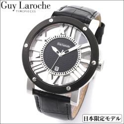 GuyLaroche ギ・ラロッシュ 日本限定スケルトンウォッチ ブラック【送料無料】の画像