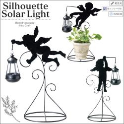 シルエット ソーラー ライト エンジェルの画像