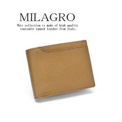 Milagro 男のゴールド 二つ折り財布 HK-G-501【送料無料】の画像