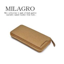 Milagro 男のゴールド ギャルソンロングウォレット HK-G-507【送料無料】の画像