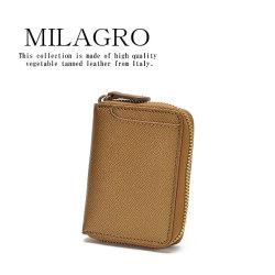 Milagro 男のゴールド ボックスコインケース横型 HK-G-530の画像