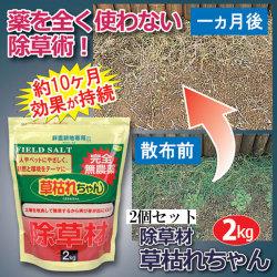 完全無農薬除草材草枯れちゃん2kg×2セット【カタログ掲載1603】の画像