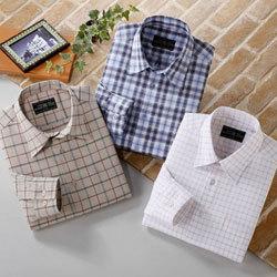 トムモリス高級エジプト綿 快適ストレッチシャツ3柄セット(長袖)【送料無料】の画像