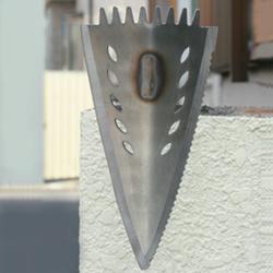 ステン大狐鍬(アルミ柄)の画像