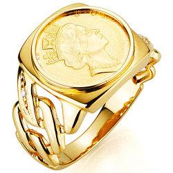 ラッキーコインリング-LUCKY COIN RING-☆金運を呼ぶ♪天然ダイヤモンドがゴージャス度UP!の画像
