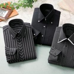 フランコ・コレツィオーニ ドレスシャツ(同サイズ3枚組)<ブラック系>の画像