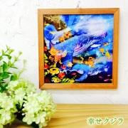 木精キジムナーのアートちび絵「幸せクジラ/Sサイズ45番」