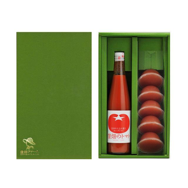 【オリジナルギフト】完熟トマトジュース500mlとトマトゼリーの限定セット ★贈物や旬のギフトなどにもご利用ください★