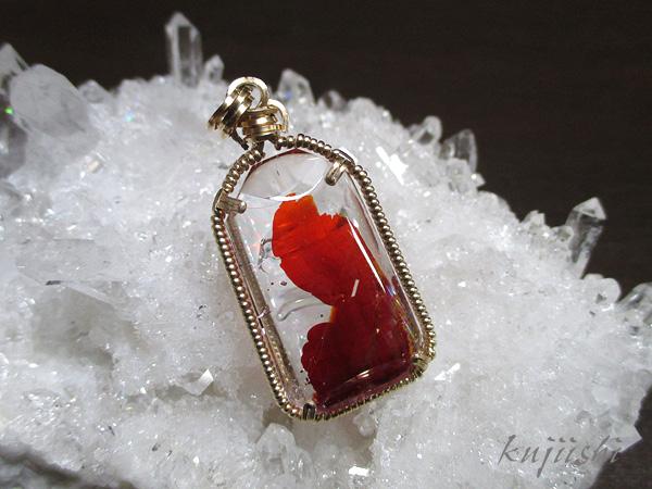 レッドオーロラクォーツ 水晶 ペンダントトップ 天然石専門店【鬮石】