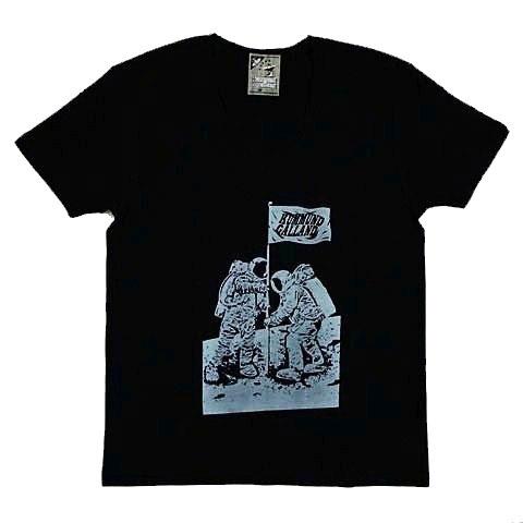 月面着陸UネックTシャツ