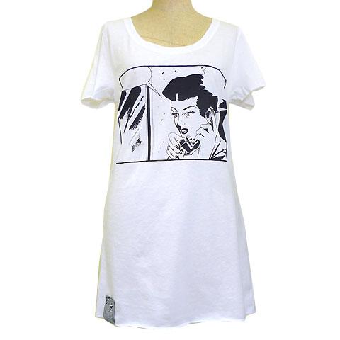 レディース CALLING YOU ロング丈Tシャツ