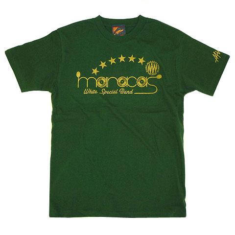 マラカスホワイトスペシャルバンド レコードロゴTシャツ