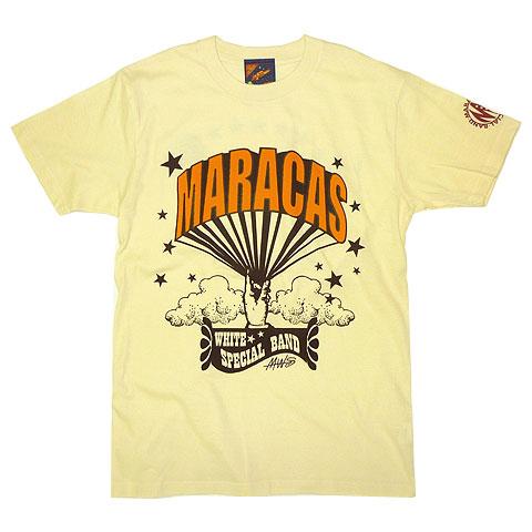 マラカスホワイトスペシャルバンド バルーンロゴTシャツ