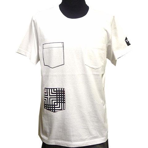3ポケットTシャツ ホワイト フロント