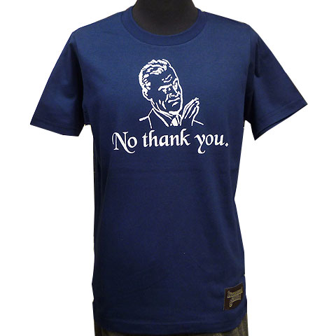 No thank you.Tシャツ インディゴブルー フロント
