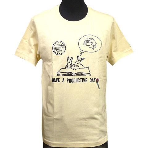 ペアラビットTシャツ アイボリー フロント
