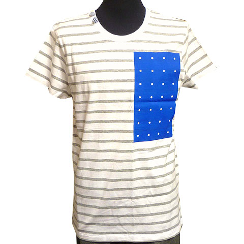 パンチングボードボーダーTシャツ フロント