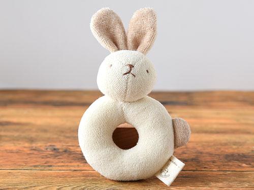 オーガニックコットン ウサギのガラガラ/天衣無縫