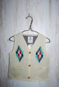 〜SALE〜 highking terra firma vest ホワイト(120〜150センチ)