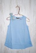 〜SALE〜 WHIP CREAM  肩リボンタンクチュニック ブルー(80センチ)