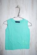 〜SALE〜 akala ono ノースリーブTシャツ グリーン(90、110センチ)