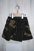 Mein Heim  2.5分丈スカートパンツ チャコール(90〜150センチ)