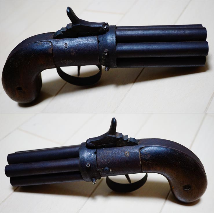希少 古式六連銃 管打ち式銃砲 完動品