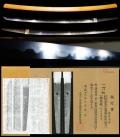 最高傑作初代『肥前一文字出羽守行廣』『銀象嵌名ささのゆき』刀剣美術所載特別保存刀剣