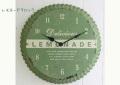 【送料無料】アンティーク調壁掛け時計 レモネード・クロック